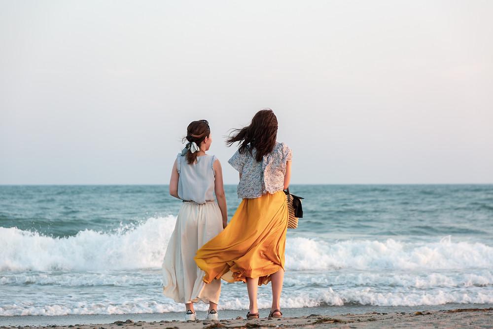 ロングスカートと中田島砂丘