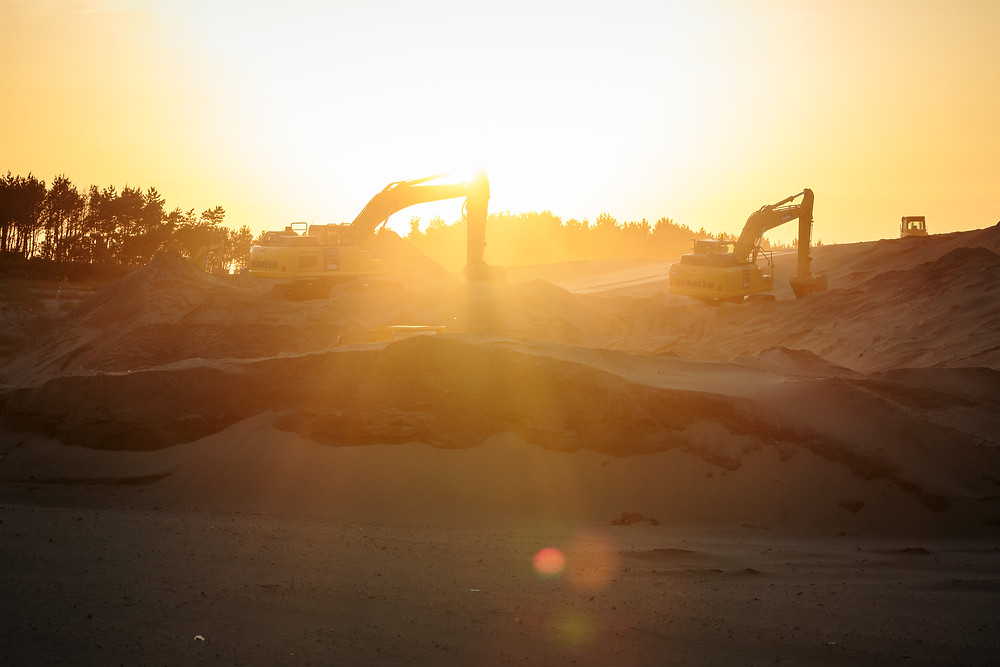 中田島砂丘の南西の起伏を崩してしまった