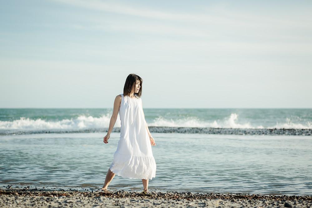 中田島砂丘でポートレート撮影