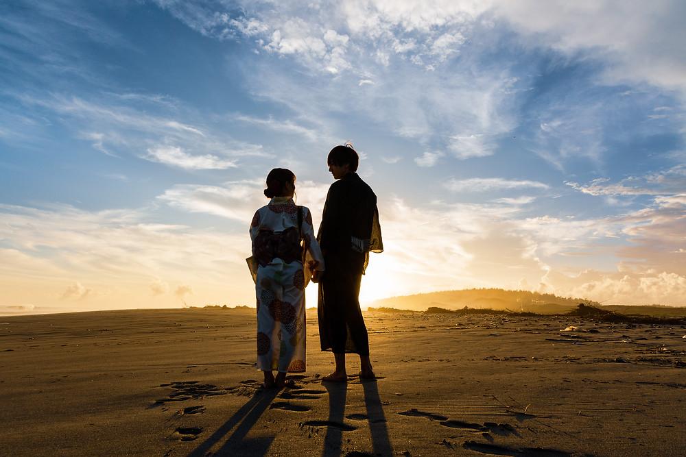 浴衣と砂丘