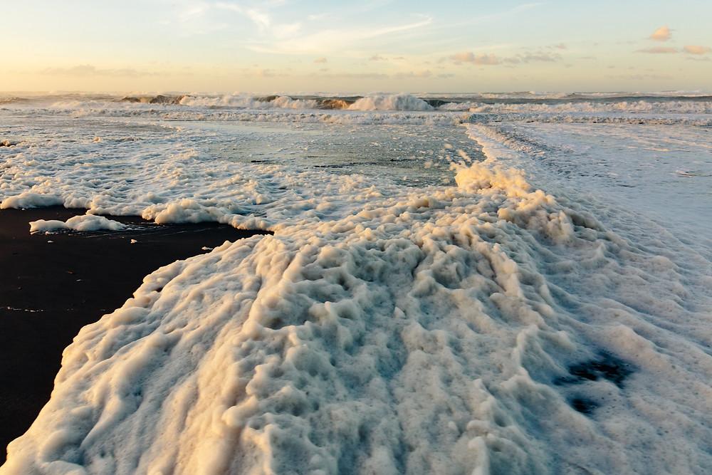 中田島砂丘に波の花