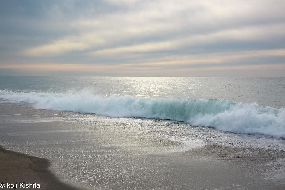 中田島砂丘の波打ち際