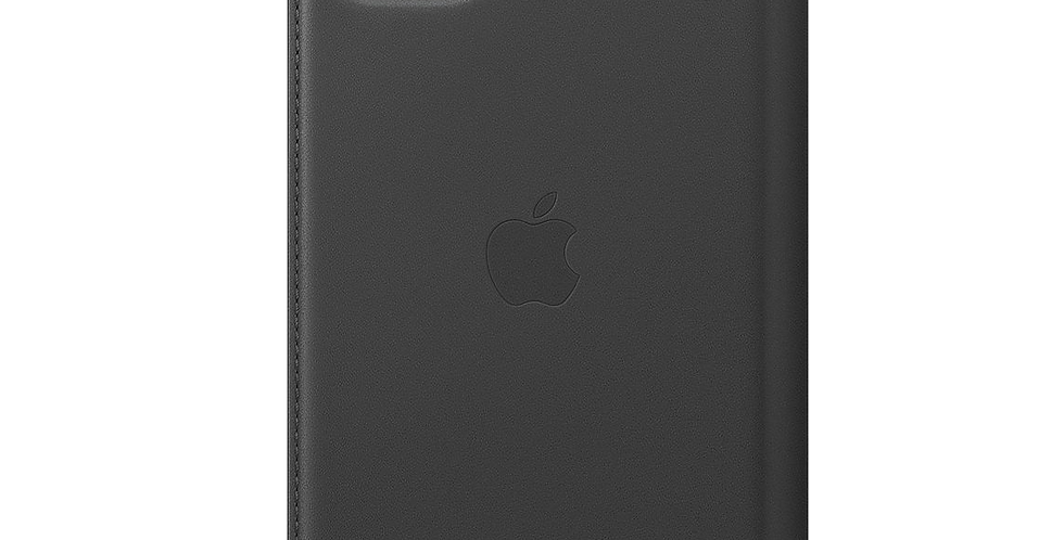 IPhone 11 Pro Max Leather Folio Cover Black