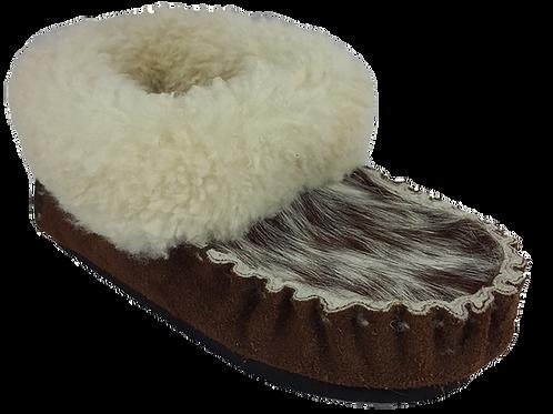 Nguni Sheepskin Slippers