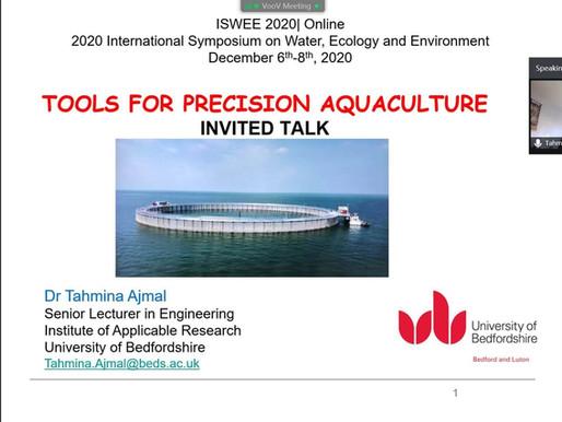 Dr. Tahmina Ajmal presents 'Tools for Precision Aquaculture' at ISWEE 2020