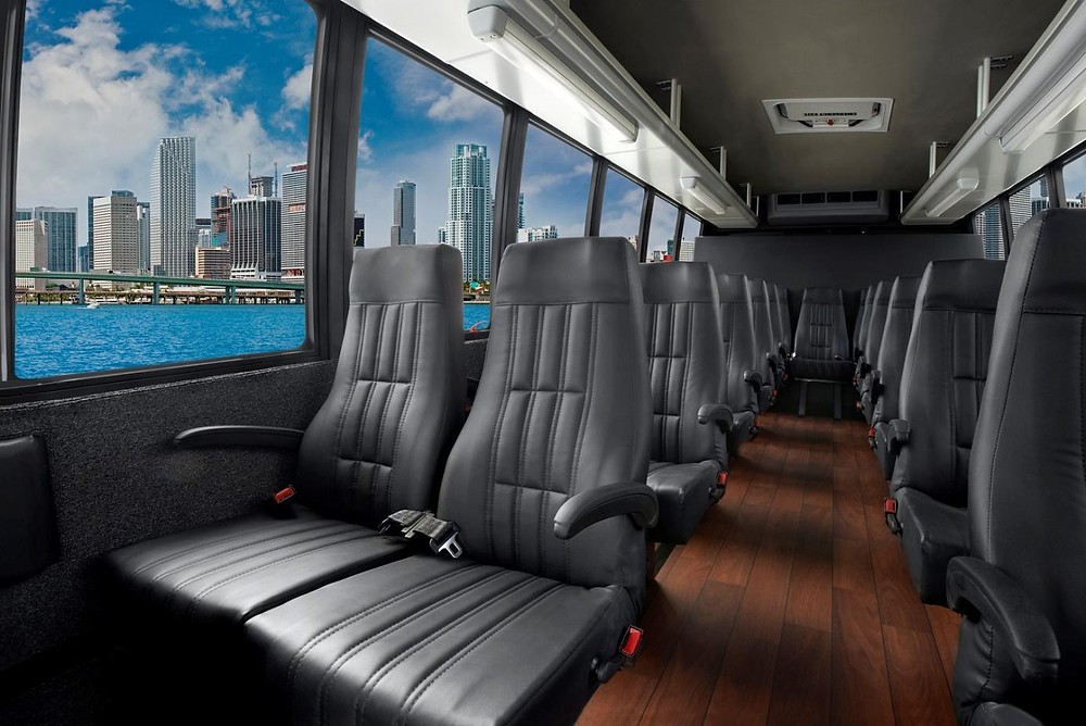 Interior of mini bus