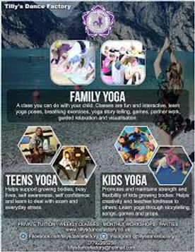Tilly Dance Factory Yoga Family day in Redbourn Villag Hall