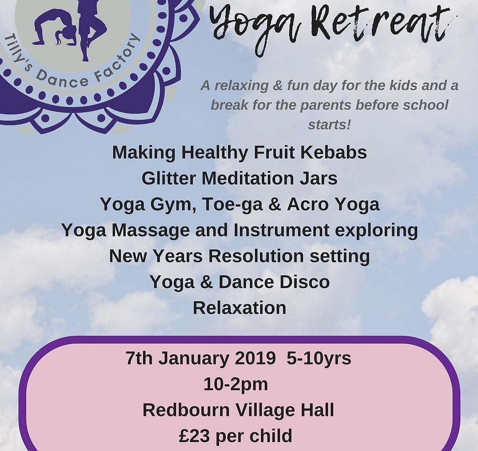 07.01.19 Tillys Dance and Yoga Factory Yoga day 7th Jan 2019
