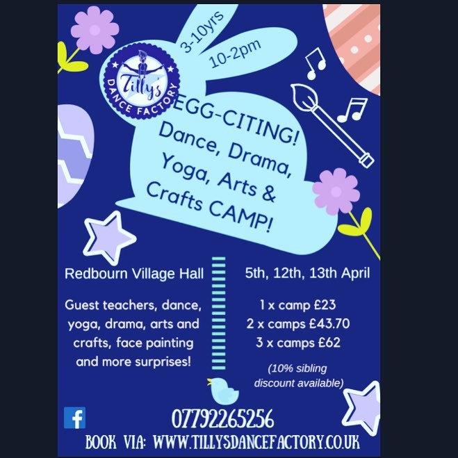 Tillys Dance Factory Easter holiday workshop April 2018 in Redbourn Village Hall