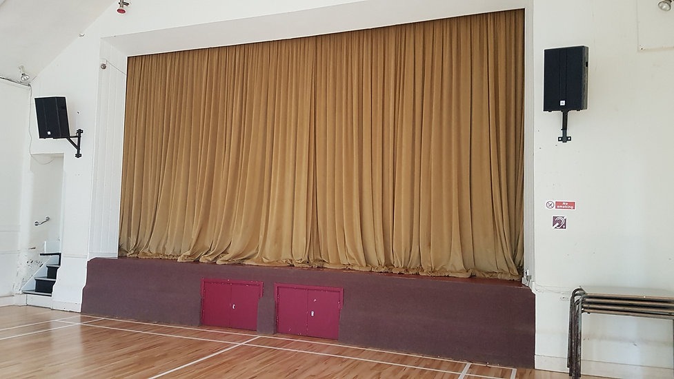 Redbourn Village Hall new curtains in Main Hall #TescoBagsOfHelp