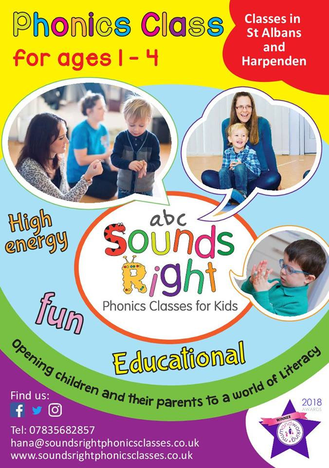 Sounds Right Phonics in Rebourn Village Hall April 2019