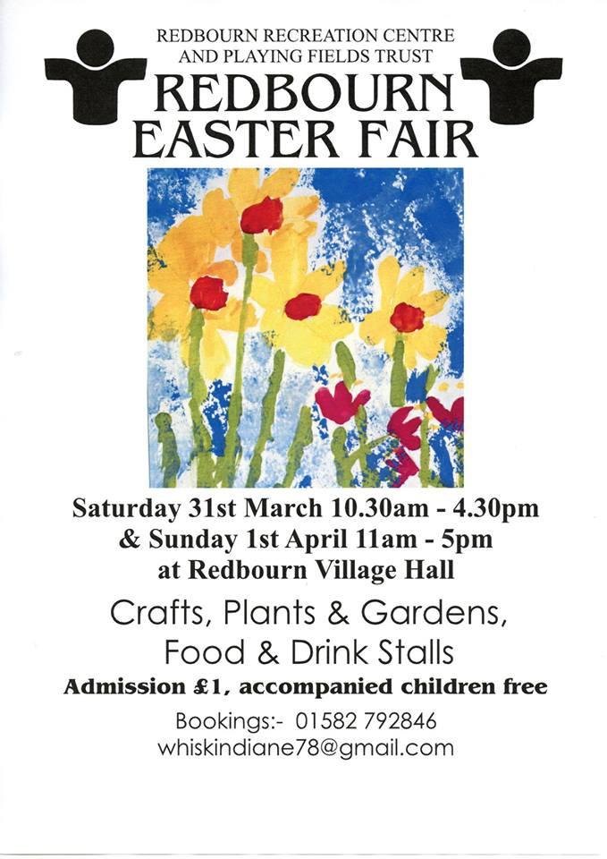 Redbourn Easter Craft Fair April 2018