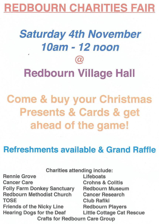 Redbourn Charities Fair 4th November 2017