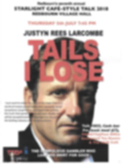 Justyn Rees Larcombe talk in Redbourn Village Hall 5th July 2018