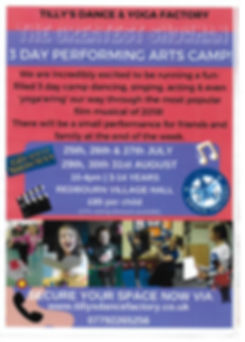 Tillys Dance Factory Summer 2018 Hoilday Camps in Redbourn Village Hall