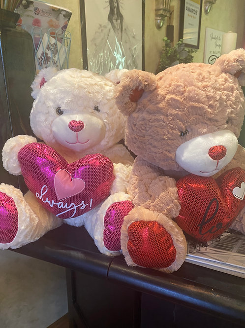 "Valentines Teddy Bear 15"""