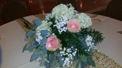 Rose Hydrangea Centerpiece