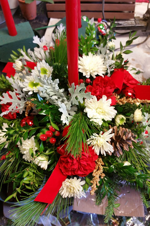 Holiday Round Centerpiece