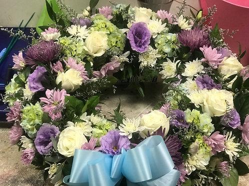 Blue Pastel Sympathy Wreath