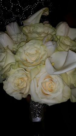 Calla and Rose with Crystal Pin