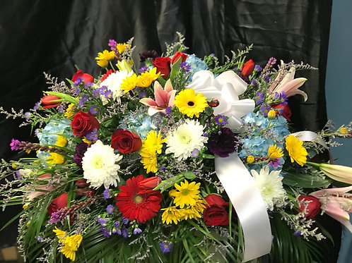 Celebration of life Casket Spray