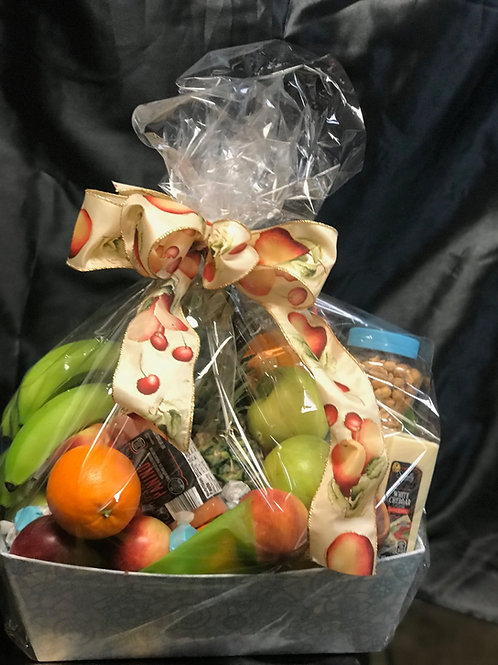 Fruit, meat and cheese Basket