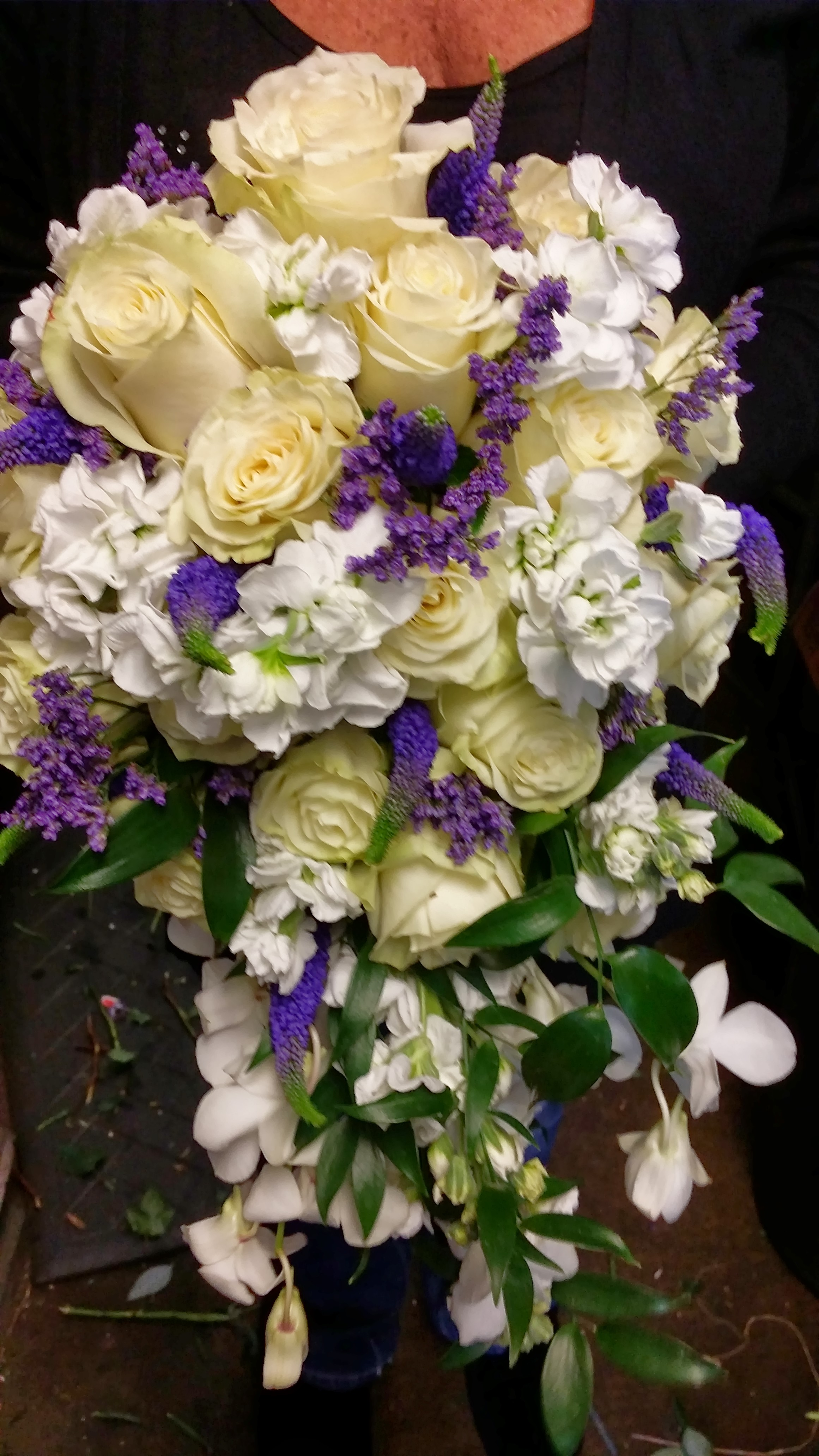 Cascade,Rose, Orchids,Stock