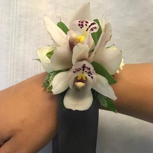 White/Blush Orchid Corsage