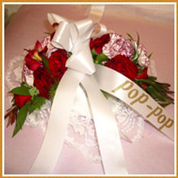 Pillow with corsage $65.00+