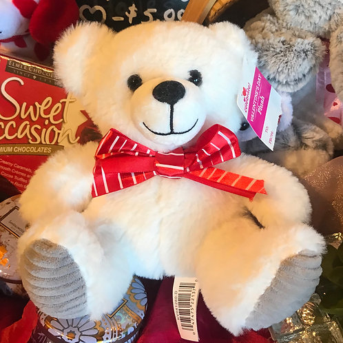 "Valentines Stuffed Bear 8"""