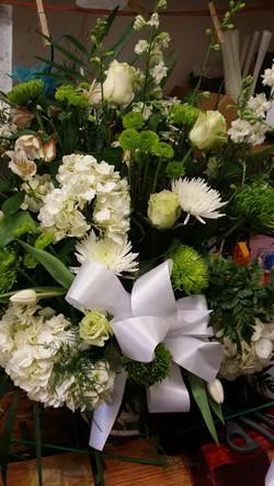 13) Green & White Basket $150.00+