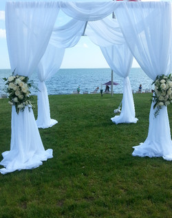 chuppah with floral swags