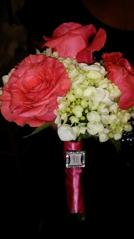 Handheld Roses and Hydrangeas