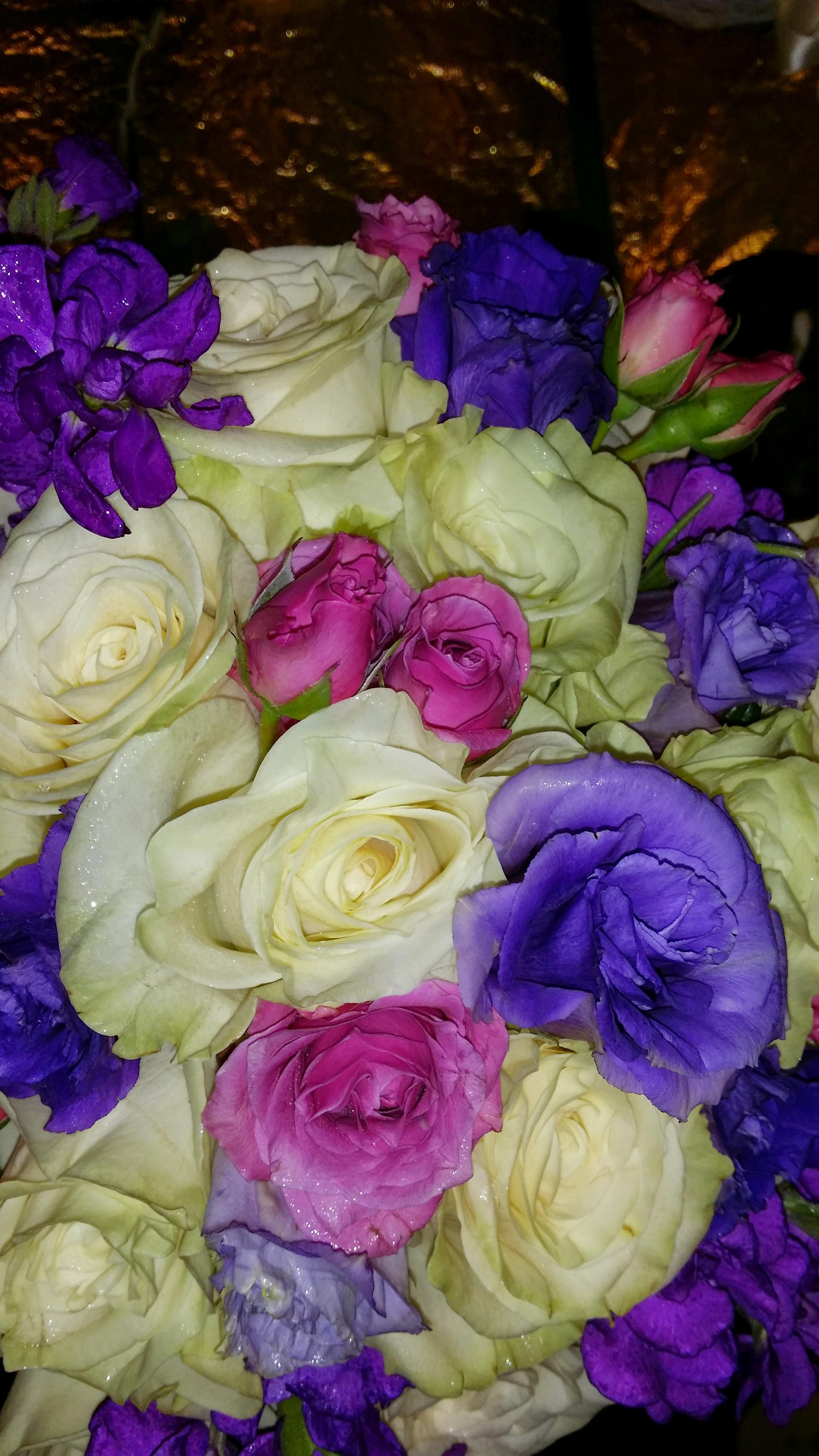 Roses, Lisianthus, Stock