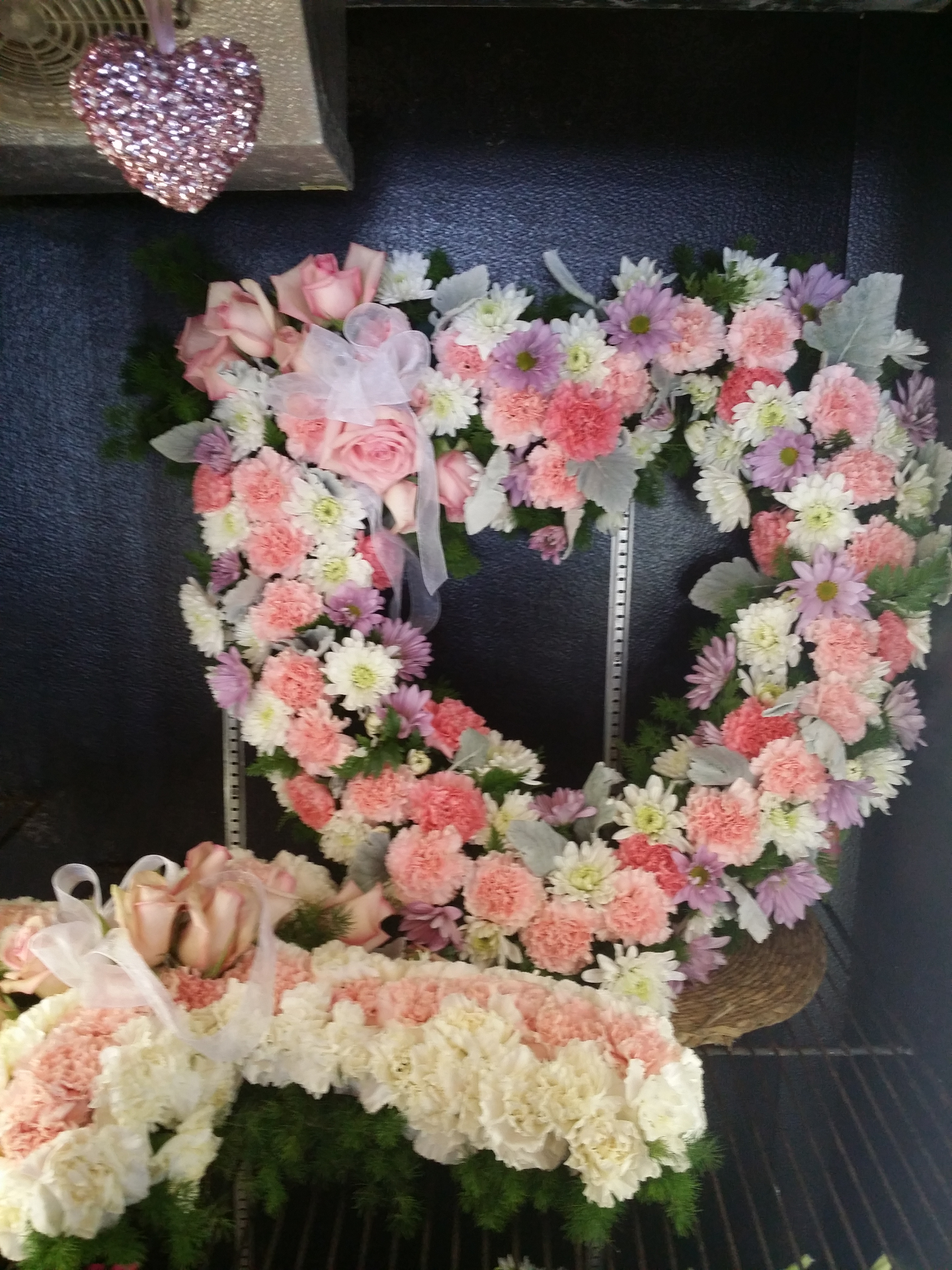 heart pink and white $275.00+