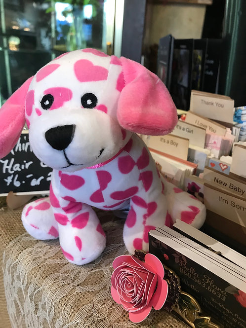 "Valentines Stuffed Dog 7"""