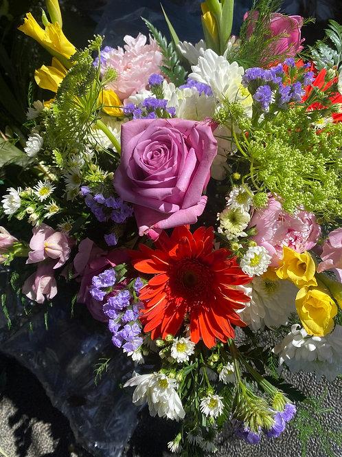 Short Bright Spring Vase