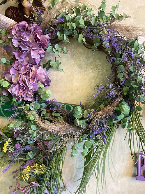 Lavendar &  Eucalyptus Wreath