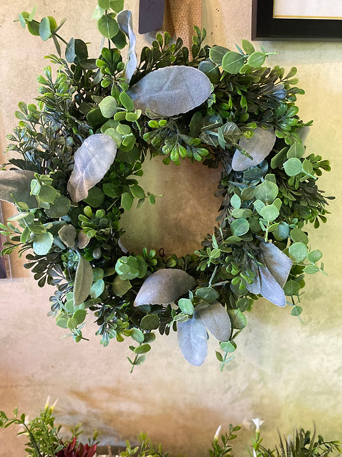 Eucalyptus and Dusty Miller Wreath