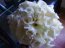 Roses and Calla Lily