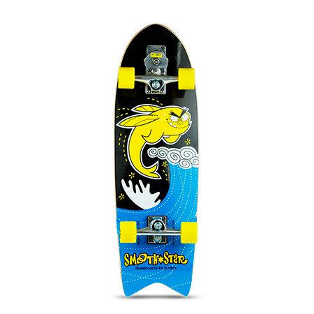 "Сёрф-скейт SmoothStar Flying Fish 32"" (Чёрно-жёлтый)"