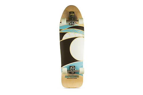 "Сёрф-скейт SmoothStar Manta Ray 35.5"" (Песочный/белый/чёрный/голубой)"