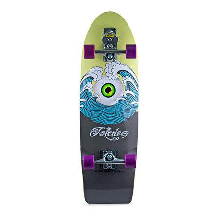 """Сёрф-скейт SmoothStar Holy Toledo 33"""" (Песочный/синий/тёмно-серый)"""