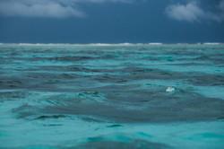 цвет воды на Мальдивах