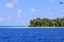 райский мальдивский пейзаж