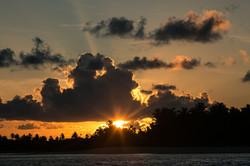 закат на Южных атоллах