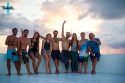 наша серф банда на Мальдивах
