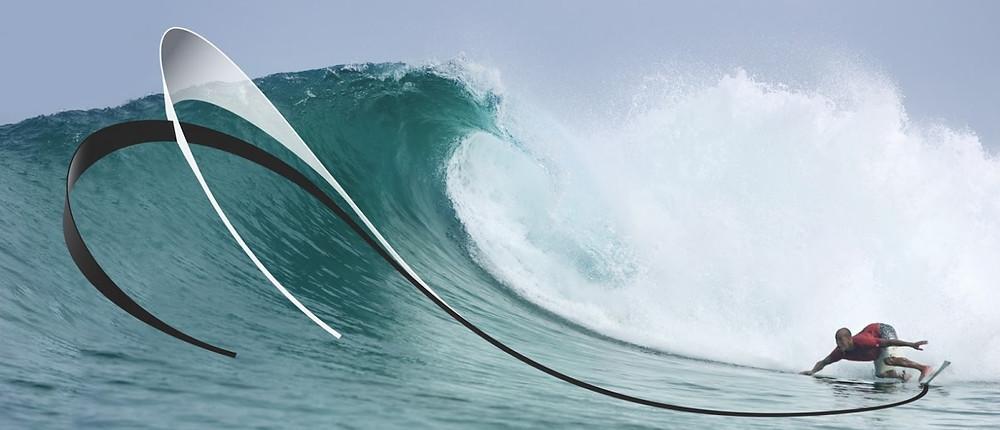Надо оказаться внизу волны, но не перед волной