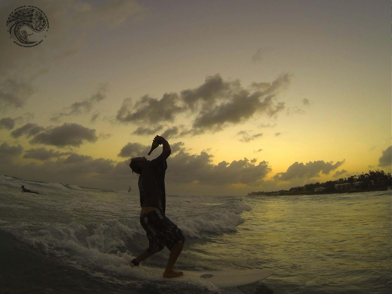 новый год - серфинг на Барбадосе