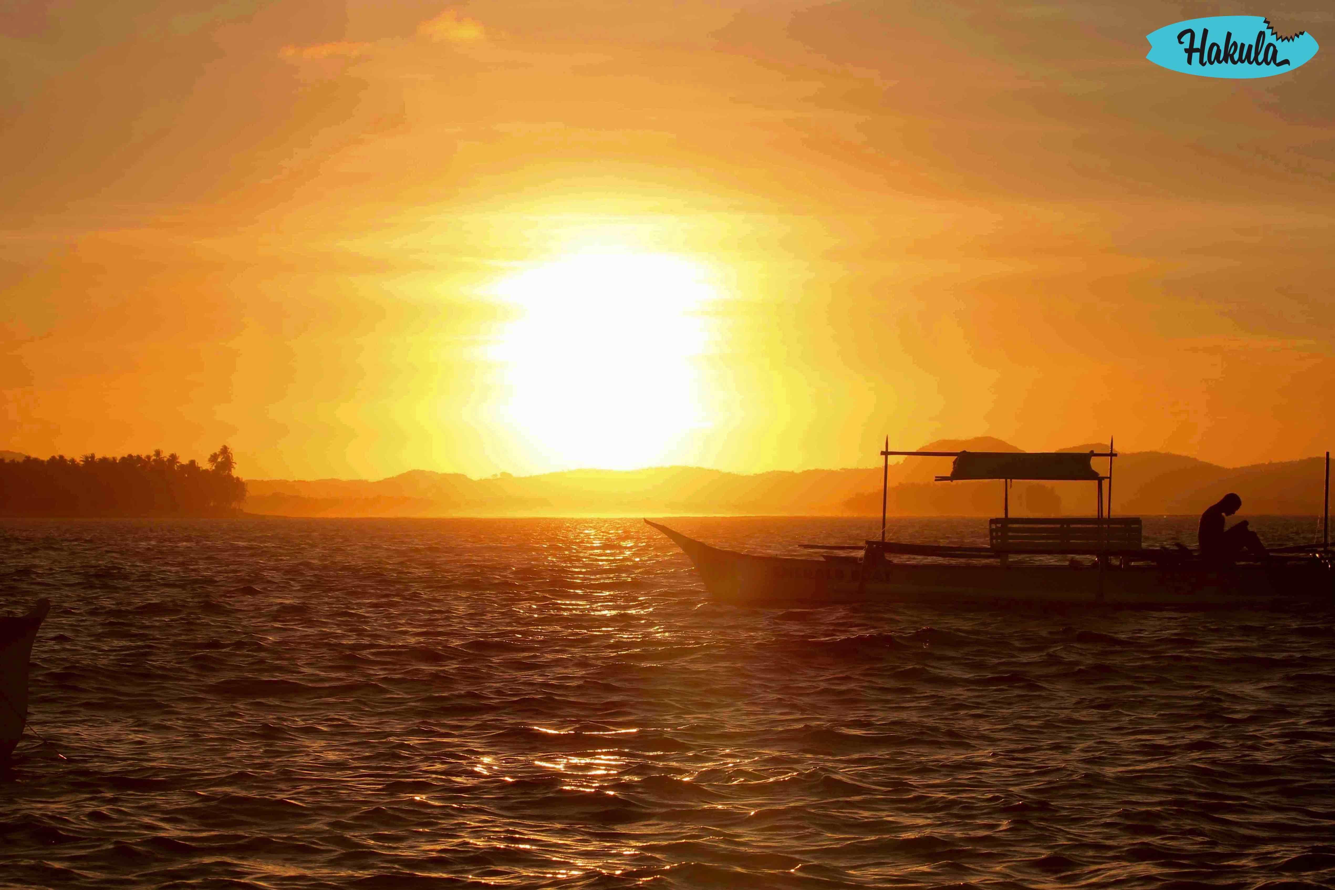 закат на острове Сиаргао